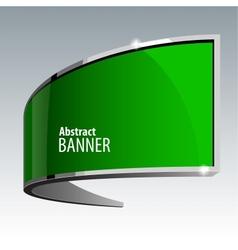 Shiny gloss green banner eps 10 vector image vector image