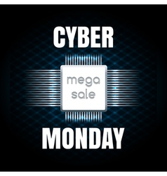 Cyber monday sale banner template vector