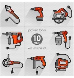 Power tool set vector image