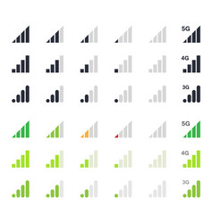 signal strength indicator signs vector image vector image