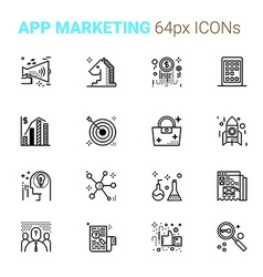 App Marketing pixel perfect icons vector image vector image