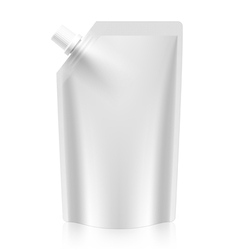 Blank spout pouch bag foil or plastic packaging vector image vector image