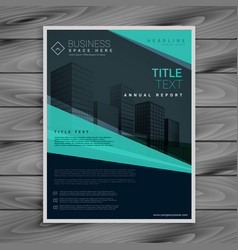 blue professional brochure design template vector image