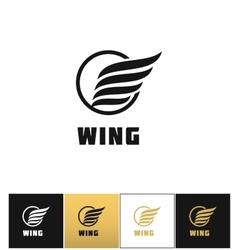 Business wing logo icon vector image
