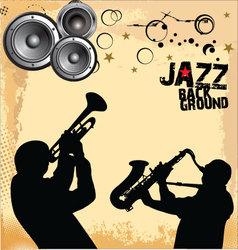 Jazz Music grunge background vector image vector image
