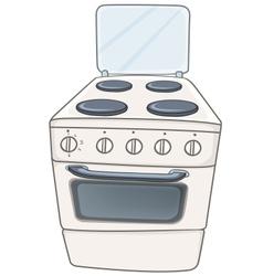 cartoon home kitchen stove vector image