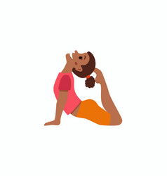 cute cartoon gymnastics for children vector image