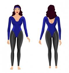 gym girl vector image