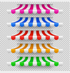 shop awning tents for window outdoor market vector image