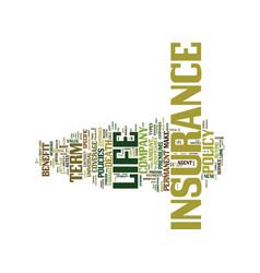 Term life insurance economic sense text vector