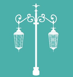 Vintage forging ornate streetlamps isolated vector image vector image