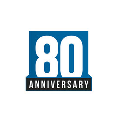 80th anniversary icon birthday logo vector image