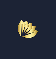 abstract flower ornament gold logo vector image