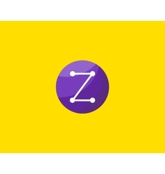 Abstract letter Z logo design template Dot line vector