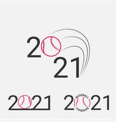 baseball sign 2021 set logo vector image