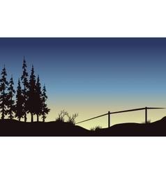 Beautiful Landscape in fields vector image