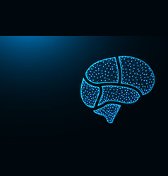brain areas low poly design human organ abstract vector image