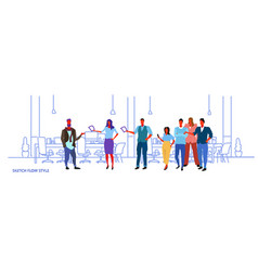 Business people meeting conference creative office vector