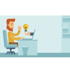 Businessman working vector image