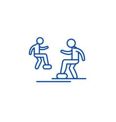 cardio exercise line icon concept cardio exercise vector image