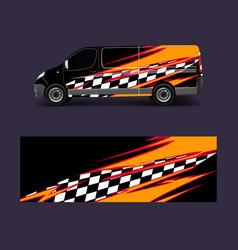 Cargo van wrap graphic abstract stripe designs vector