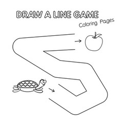 cartoon turtle coloring book game for kids vector image