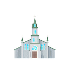 Catholic church cathedral building icon vector