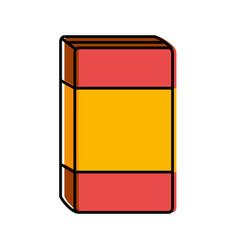 Cereal box icon vector
