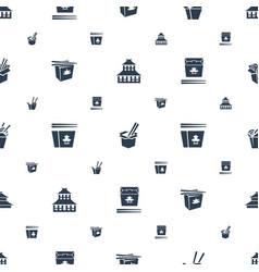 China icons pattern seamless white background vector