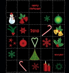 Christmas elements and icons vector image vector image