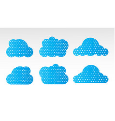 Cloud icons in a trendy flat style vector
