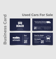 Collection business card of autodealer vector
