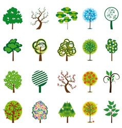 Collection of trees for design vector illustration vector