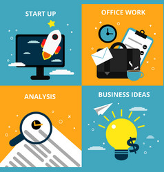 Concept pictures with different business elements vector