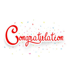 Congratulations celebration design vector