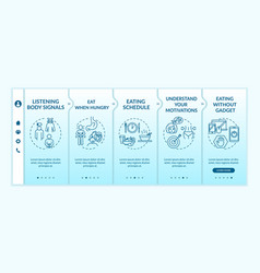 Conscious nutrition rules onboarding template eat vector