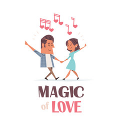 couple in love dancing girlfriend and boyfriend vector image