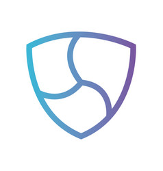 cryptocurrency nem symbol isolated icon vector image