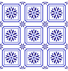 Cute tile pattern with flower vector