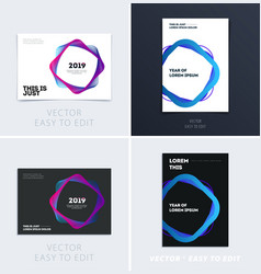 design of brochure soft template cover colourful vector image