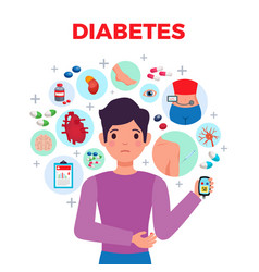 Diabetes composition poster vector