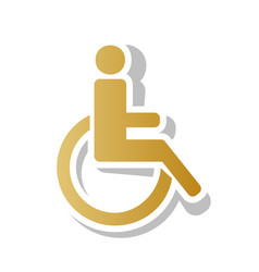 Disabled sign golden vector