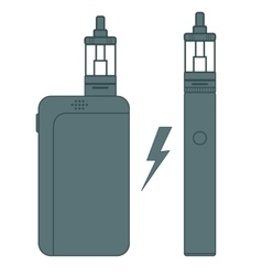 E-cigarette flat vector image