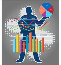 Economist teacher of economics vector image
