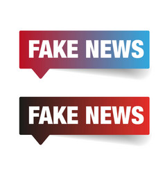 Fake news sign label tag vector