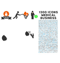 Female breast blowjob ejaculation icon with 1300 vector