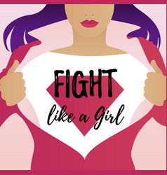 fight like a girl vector image