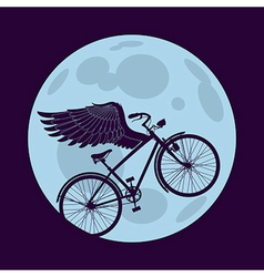 Flying in the night vector image