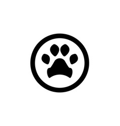 foot print dog animal pet logo and symbols vector image