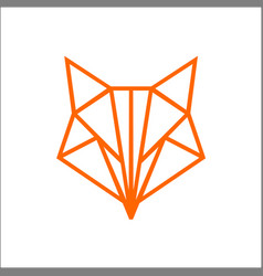 fox geometric shapes lines and triangles vector image